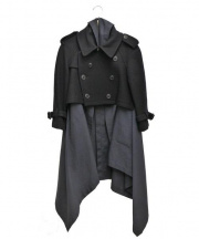 COMME des GARCONS(コムデギャルソン)の古着「ドッキングコート」 ネイビー