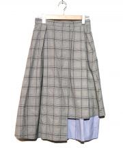 DIRECTOIRE(ディレクトワール)の古着「レイヤードグレンチェックスカート」