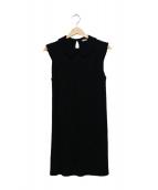 MIU MIU(ミュウミュウ)の古着「ノースリーブワンピース」|ブラック