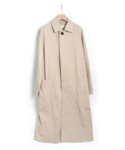 GALERIE VIE(ギャルリー・ヴィー)の古着「ギャバジンステンカラーコート」 ベージュ