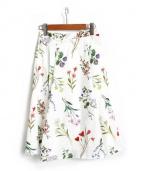 JUSGLITTY(ジャスグリッティー)の古着「サマーボタンカルプリントスカート」|ホワイト