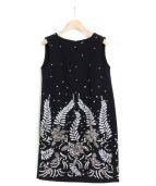 GRACE CLASS(グレースクラス)の古着「ボイタニカルビジュー調ドレス」|ブラック