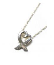 Tiffany&Co.(ティファニーアンドコー)の古着「1Pダイヤラビングハートネックレス」