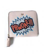 ANYA HINDMARCH(アニヤ ハインドマーチ)の古着「ラウンドファスナー2つ折り財布」|ライトベージュ