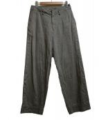 KOLOR(カラー)の古着「ヘリンボーンパッカリングパンツ」