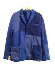 H.R.REMAKE(エイチアールリメイク)の古着「スウェットジャケット」|ネイビー