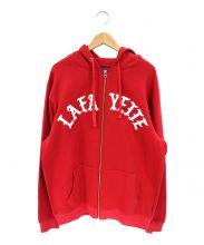 Lafayette(ラファイエット)の古着「ARCHLOGOFULLZIPSWEATSHIRT/ジップパ」 レッド