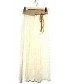MARECHAL TERRE(マルシャル・テル)の古着「レーススカート」|ホワイト