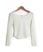LEMAIRE(ルメール)の古着「ショート丈ニット」|ホワイト
