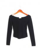 LEMAIRE(ルメール)の古着「ショート丈ニット」|ブラック