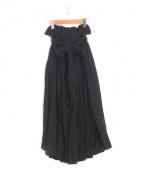 LI HUA(リーファー)の古着「コットンガーゼエアリースカート」|ブラック