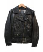 MAISON DE REEFUR(メゾンドリーファー)の古着「レザーライダースジャケット」|ブラック
