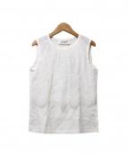 leur logette(ルールロジェット/ルルロジェッタ)の古着「ノースリーブレースブラウス」|ホワイト