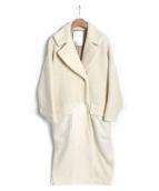 ELENDEEK(エレンディーク)の古着「異素材MIXコート」 オフホワイト