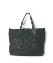 FALORNI(ファロルニ)の古着「イントレチャートトートバッグ」|グリーン