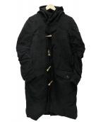 ANREALAGE(アンリアエイジ)の古着「フーデッドコート」|ブラック