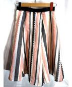 JUSGLITTY(ジャスグリッティー)の古着「スカラストライプスカート」