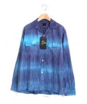 Needles(ニードルズ)の古着「タイダイ染オープンカラーシャツ」|ネイビー