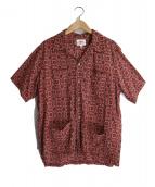 Battenwear(バテンウェア)の古着「オープンカラーシャツ」|ワインレッド
