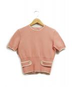 MIU MIU(ミュウミュウ)の古着「半袖ニット」 ピンク