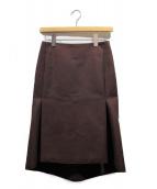 BALENCIAGA(バレンシアガ)の古着「KICK SKIRT/ボックススカート」|ブラウン