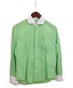 JUNYA WATANABE COMME des GARCON MAN(ジュンヤワタナベ コムデギャルソン マン)の古着「ビッグステッチシャツ」|グリーン