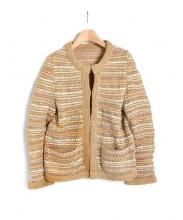 sacai(サカイ)の古着「ノーカラージャケット」|ベージュ