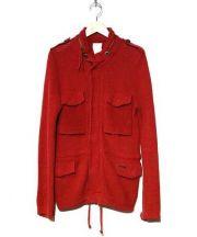 BARK(バーク)の古着「M-65ニットジャケット」|レッド