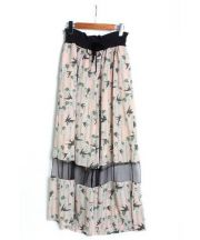 LOKITHO(ロキト)の古着「プリントワイドパンツ」|ベージュ