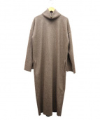 PLAIN PEOPLE(プレインピープル)の古着「ジップフライウールコート」|ブラウン