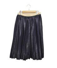 tricot COMME des GARCONS(トリココムデギャルソン)の古着「デニムプリーツスカート」|ネイビー