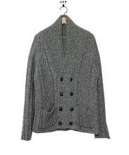 BOGLIOLI(ボリオリ)の古着「ウールシルクショールカラーニットジャケット」|グリーン