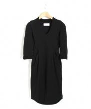 Mame Kurogouchi(マメクロゴウチ)の古着「ジャージーIラインドレス」|ブラック