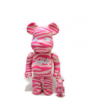MEDICOM TOY(メディコムトイ)の古着「BEAR BRICK100%&400%」|ピンク