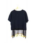 TOGA PULLA(トーガプルラ)の古着「メッシュ切替Tシャツ」
