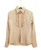 BURBERRY BLUE LABEL(バーバリーブルーレーベル)の古着「ストライプフリルシャツ」