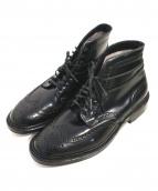 ALDEN(オールデン)の古着「コードバンウイングチップブーツ」|ブラック