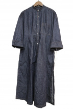 MACPHEE(マカフィー)の古着「デニムベルテッドシャツワンピース」