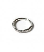 Tiffany&Co.(ティファニーアンドコー)の古着「9Pダイヤカーブドバンドリング」|プラチナ