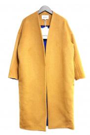 ENFOLD(エンフォルド)の古着「ソフトリバーノーカラーコート」