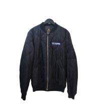 ALPHA(アルファ)の古着「キルティングMA-1ジャケット」