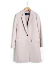 JUSGLITTY(ジャスグリッティー)の古着「チェスターコート」|ピンク