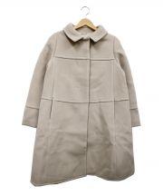 STRAWBERRY FIELDS(ストロベリーフィールズ)の古着「メリンプビーバーウールコート」|ベージュ