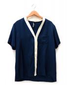 NEIL BARRETT(ニールバレット)の古着「ノーカラーシャツ」|ネイビー