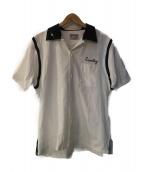 HOUSTON(ヒューストン)の古着「ボーリングシャツ」|ホワイト