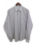 HERMES(エルメス)の古着「H柄ドレスシャツ」|ブラウン