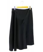 ADORE(アドーア)の古着「トリアセサテン変則フレアースカート」|ブラック
