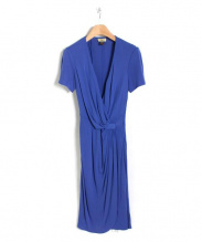 ISSA LONDON(イッサロンドン)の古着「カシュクールワンピース」|ブルー