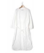 ARGUE(アギュー)の古着「スーピマコットンワンピース」|ホワイト