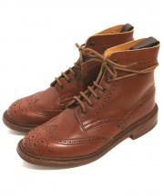TRICKER'S(トリッカーズ)の古着「ウィングチップカントリーブーツ」|ブラウン